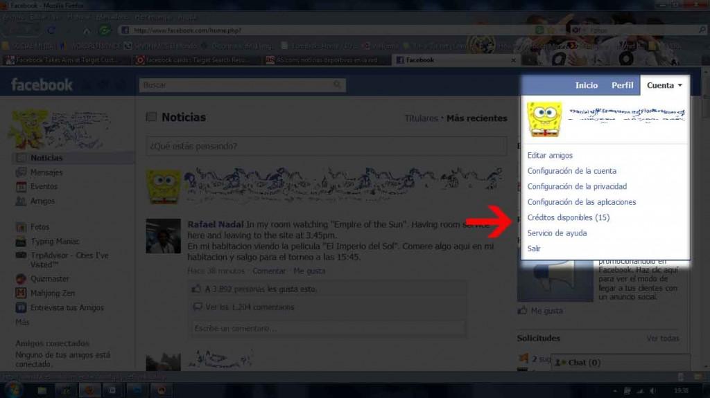 MARKETING-10.COM - Facebook te ofrece la posibilidad de comprar creditos para disfrutar de las opciones premium de sus juegos sociales